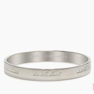 Kate Spade happily ever after bride idiom bangle